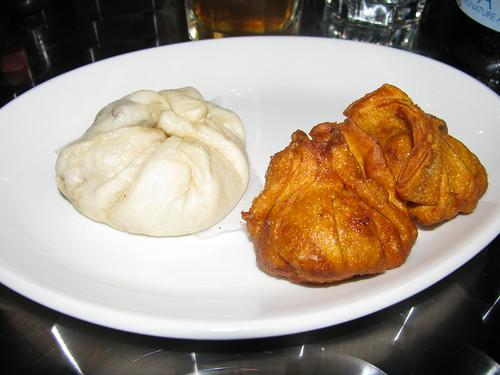 Sweetbread Dumplings, Squab Bao