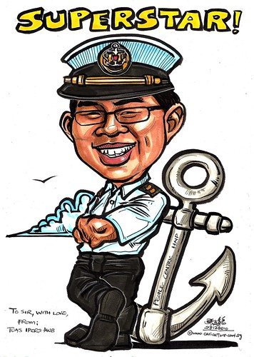 Caricature for Singapore Navy