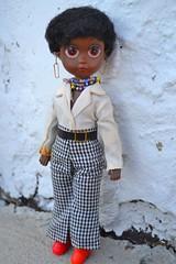 susan (cybermelli) Tags: original black vintage eyes doll sad sister african american soul 70s susie earrings