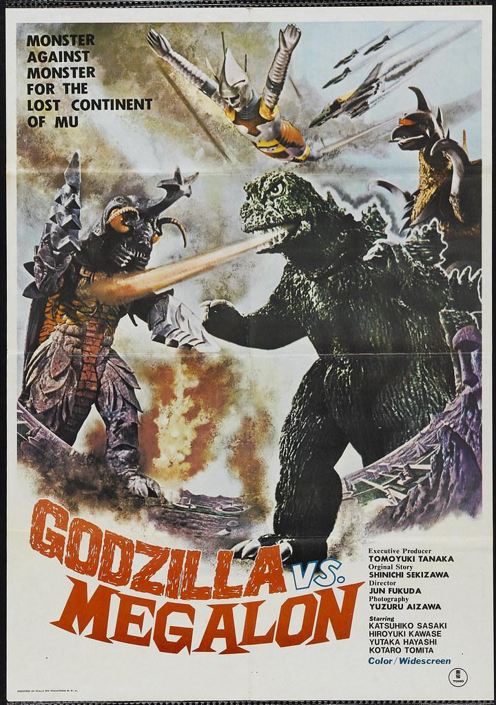 Godzilla vs. Megalon (Toho, 1973). Italian