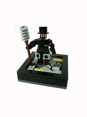 Your Soot is lacking something.... (Lego Junkie.) Tags: robot lego victorian suit era soot tophats ftw