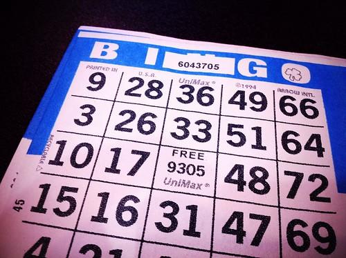 """Foxwoods High Stakes Bingo Card"""