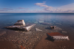 Discarded (*CityPines*) Tags: longexposure toronto water discarded sigma1020mm lesliespit nd110