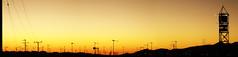 Calama Panoramic (Arieel.) Tags: sunset orange atardecer cables calama