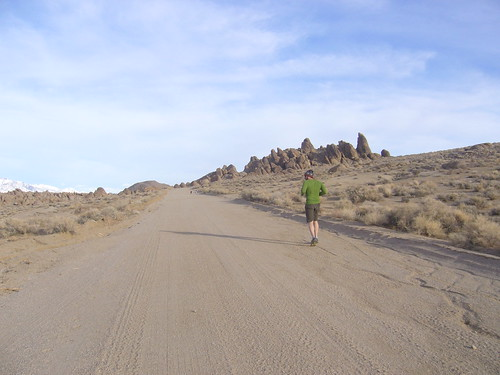 Running in Alabama Hills