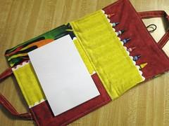 crayon tote inside
