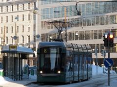 Helsinki (Jean (tarkastad)) Tags: helsinki helsingfors tramway tram streetcar tarkastad neige snow finlande finland suomi lightrail lrt strasenbahn raitiovaunu