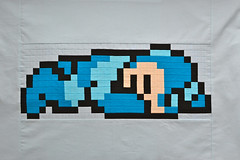 Sleepy MegaMan Quilt Back