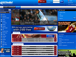 AllYouBet Sportsbook Home