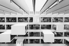 ITU, Copenhagen (Christian Wiedel) Tags: bw building architecture copenhagen denmark university interior it christian itu canonef1740mmf4lusm kbenhavn amager copenhague kpenhamn canoneos5dmarkii wiedel