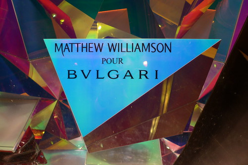 Vitrine Matthew Williamson pour Bulgari - Paris, janvier 2011