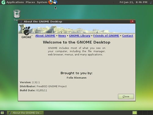 Gnome 2.32.1 sous GhostBSD 2.0 beta