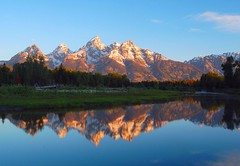 Grand Teton (photogg19) Tags: lake reflection creek sunrise river nationalpark nikon stream jackson wyoming grandteton jacksonhole grandtetonnationalpark beaverpond d40 schwabacherslanding