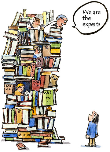 book-tower-experts illustration by HikingArtist.com, on Flickr