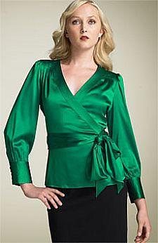 moda 2011 blusas de cetim