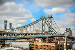 Manhattan Bridge (Thomas Hawk) Tags: brooklyn dumbo manhattanbridge newyork newyorkcity unitedstates unitedstatesofamerica architecture bridge fav10 fav25 fav50 fav100