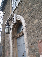 church door and lantern