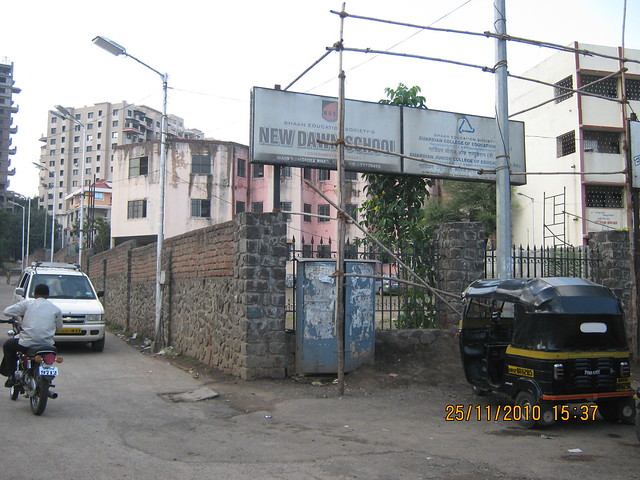 New Dawn School and a road to Kushal Nivriti near Aamdar Mahadev Babar's Home and Bramha Avenue Kondhwa Pune 411 048