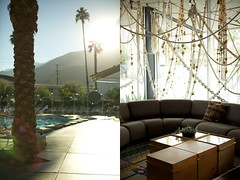 The Ace Hotel & Swim Club (jasfitz) Tags: sunset mountains pool palmsprings lobby palmtrees lounging poolside acehotel weekendgetaway swimclub magiclight artropeinstallation