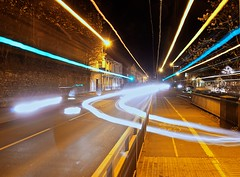 DSC09375 (Smirfman) Tags: sony alpha a550 longexposure bulb static lenszoom lights exeter devon glare colours photoart