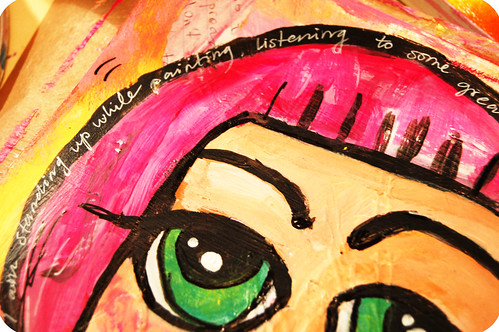 Art Journal Detail: big green