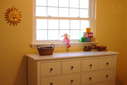 sunny yellow baby's room
