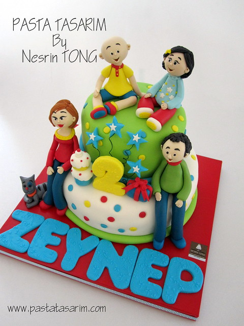 CAILLOU AND FAMILY BIRTHDAY CAKE - ZEYNEP'S