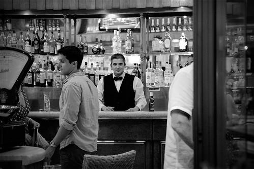 Bartender in B/W