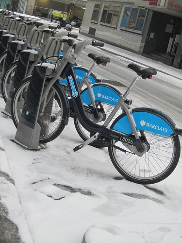 Snowy Boris Bikes