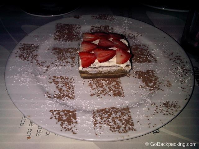 Dessert at Archie's