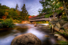 Capturing a bit of the fall color in New Hampshire (MDSimages.com) Tags: travel bridge water newengland newhampshire hdr dlws michaelsteighner mdsimages