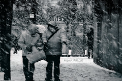 snow is softly falling. (H E N D) Tags: bw snow classic canon photography is falling josh believe faisal groban softly                hend                           hendfaisal