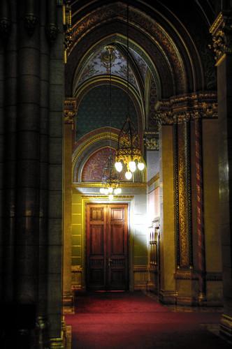 Hungarian parliament spot. Budapest. Rincón del parlamento húngaro