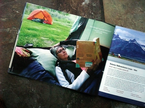 Tricia and the Adventure Cycling catalog