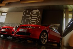 Alfa GT Rossa (v6rev) Tags: auto red rot car italia alfa romeo museo gt rood rosso storico 159 bertone machina arese