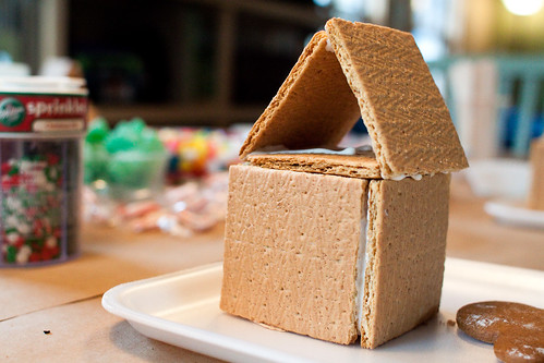 naked gingerbread house