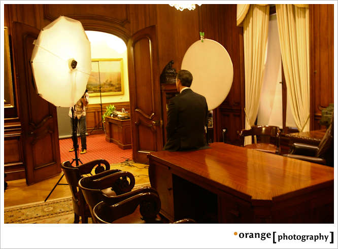 Behind the Scenes of Mayor Gavin Newsoms Official Portrait by orange photography