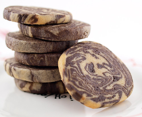 Chocolate Peanut Butter Marble Cookies