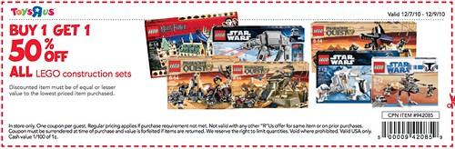 TRU LEGO BOGO 12/70-12/8