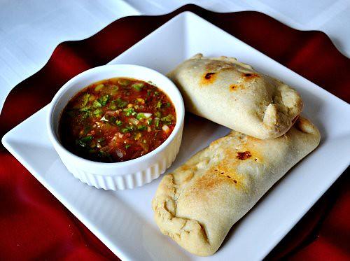plated empanadas