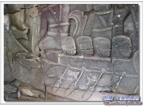 吳哥城-豐富漁獲雕刻
