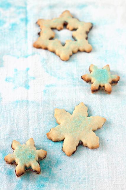 Mint-Chocolate Bottom Shortbread Cookies