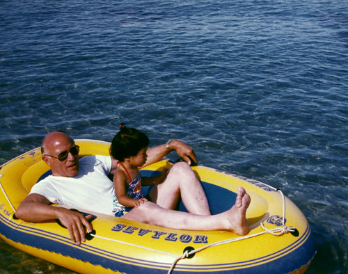 boat toddler grandpa inflatable littlegirl soomee