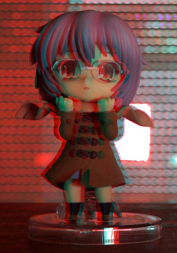 Nagato winter nendoroid 3D picture red/blue glasses version