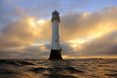 Winter sunrise at the Bell Rock lighthouse (12 miles off of Arbroath), Angus, Scotland (iancowe) Tags: winter sea lighthouse rock clouds sunrise dawn scotland waves bell north scottish stevenson arbroath bellrock northernlighthouseboard nlb robertstevenson bellrocklighthouse wbnawgbsct