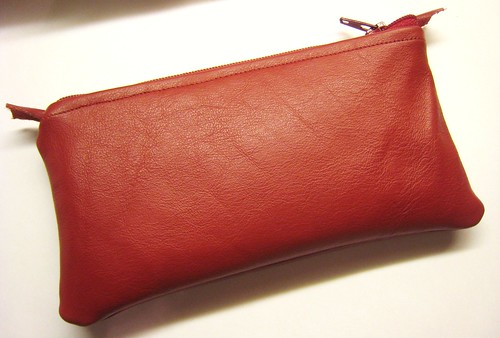 leather pouch closed