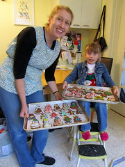 Aunt and Niece, Baking Cookies