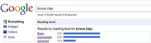 Google Bruce Clay Reading Level