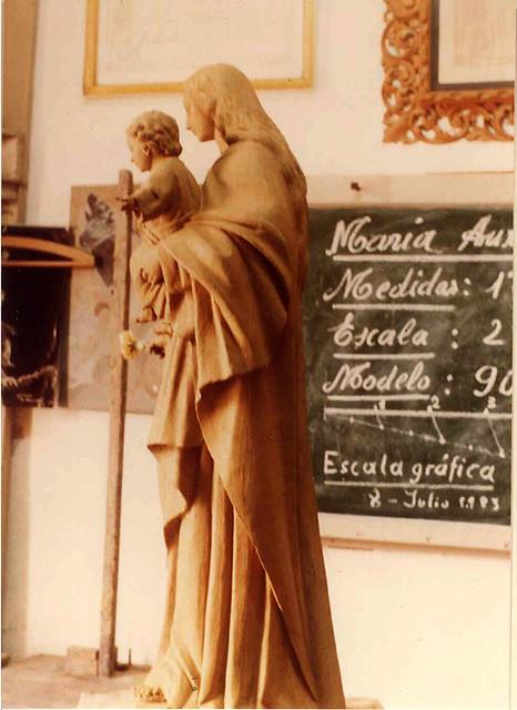 María Auxiliadora sin policromar 1