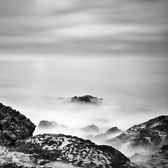Two Minutes in a Dangerous Position (120 Seconds) (DavidFrutos) Tags: longexposure bw seascape beach water monochrome stone clouds square monocromo interestingness agua rocks stones playa paisaje bn explore murcia filter nubes nd alfa alpha filters frontpage roca rocas piedras waterscape piedra filtro sigma1020mm largaexposicin filtros greatphotographers neutraldensity explorefrontpage nd1000 percheles sonydslr flickraward densidadneutra explorefp bwnd110 davidfrutos 700 niksilverefexpro siyahbeyazdler flickraward5 mygearandmepremium mygearandmebronze mygearandmesilver mygearandmegold singhraygalenrowellnd3ss mygearandmeplatinum flickrawardgallery greaterphotographers interesntsimo portadaexplorar